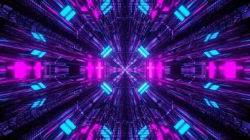 túnel espacial sci-fi de seção transversal em movimento