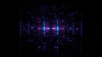 centre de données numérique à la lumière changeante video