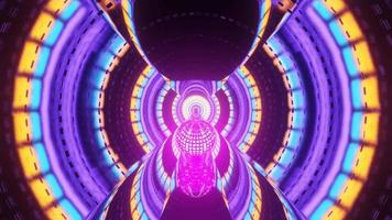 portal artístico de reflexão de luz neon