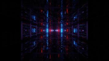 avançar luz subterrânea escura em loop