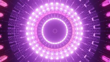 Animated Pink Power Emitting Loop