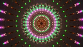 colorido con espiral de tono tierra video