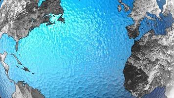animazione grafica del globo terrestre video