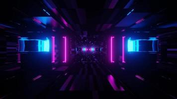 dunkles bis leuchtendes Licht endloses Portal
