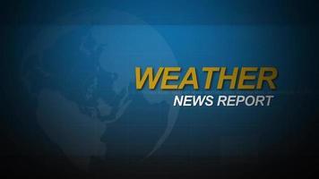 loop introduttivo di notizie meteorologiche