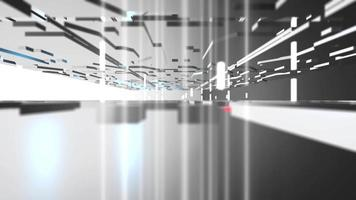 White Futuristic 3d Construction Background video
