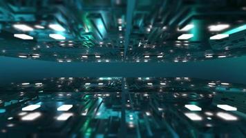 fundo de construção 3d futurista azul video