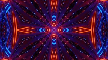 portal guiado de luz de neón del espacio cibernético oscuro