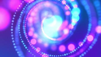 Lumières de bokeh bleu tournant en arrière-plan en forme de spirale