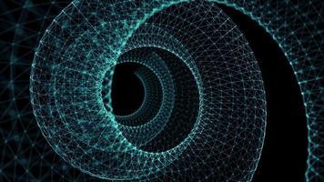 círculo de fundo de linhas de wireframe