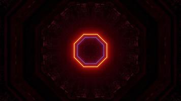túnel espacial futurista iluminado por laser