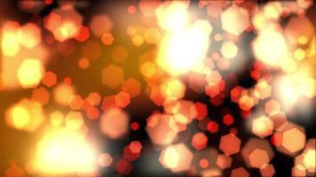 orange sechseckiger weicher Bokeh beleuchtet schwebenden Hintergrund