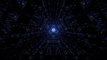 futuristisches reflektierendes Lichtprisma