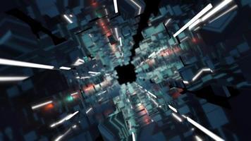 fundo de construção 3d futurista video