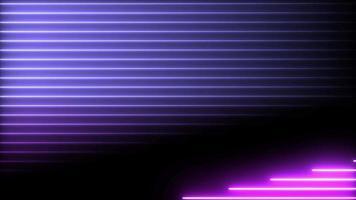 líneas horizontales animación de tono púrpura en neón brillante video