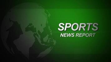 loop de introdução de notícias esportivas