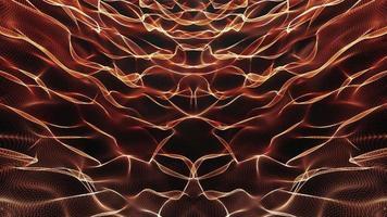 Boucle ondulée de grillage symétrique de sci-fi abstrait lueur