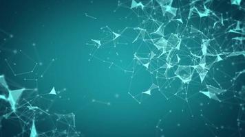 abstrakter grüner Netzwerklinienhintergrund video
