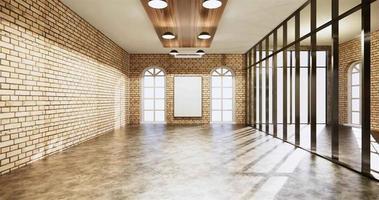 escritório morto estilo loft com paredes de tijolos video
