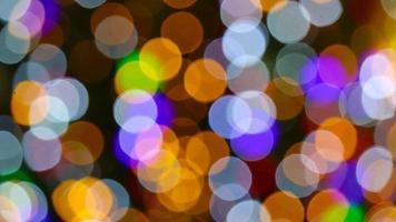 bokeh de luzes coloridas
