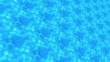 perspectief futuristische lichtblauwe korrelige tegels mozaïek lus