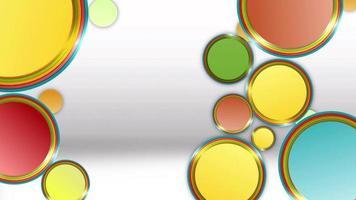 círculos de colores abstractos