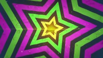 fondo de movimiento estrella retro 90 video