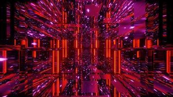 ilusão de espelho vermelho geométrico