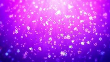 Purple background with stars and snowflakes