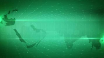 Weltkartenhintergrund mit gepunkteten Gitterlinien video
