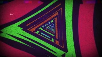 Dreieck Retro 90er Hintergrund video
