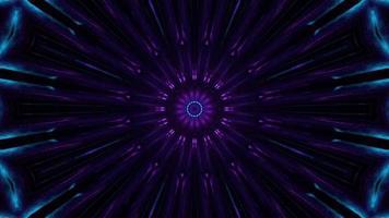passagem caleidoscópica techno neon video