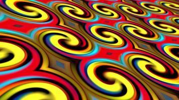 modello di cerchio colorato ricciolo gradiente rosso-giallo-blu