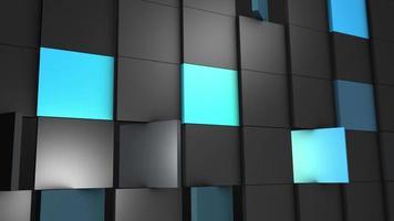 quadrados giratórios abstratos