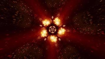 estrella futurista bokeh discoteca luces festivas lazo