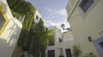 Spain, Ibiza Town daytime alley reveal