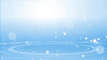 círculos azules con partículas blancas
