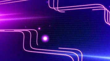 líneas abstractas de neón púrpura