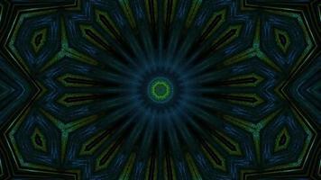 portal multidimensional de tono verde vibrante video