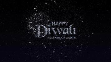 cena de introdução feliz de diwali com fogos de artifício