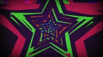 estrella retro 90 colores de fondo video