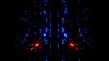 tunnel cyberspazio avanzato con luce al neon
