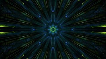 Flujo simbólico caleidoscópico de color lima