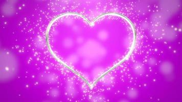 contorno di cuore con glitter