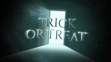 Trick or Treat on dark room