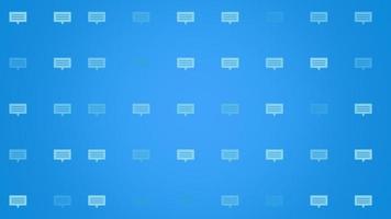 modelo social de ícones de mensagem