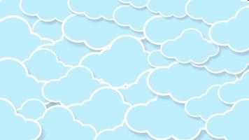 abstracte kawaii wolken
