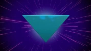 triangle bleu rétro abstrait