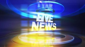 Animation Text Live News