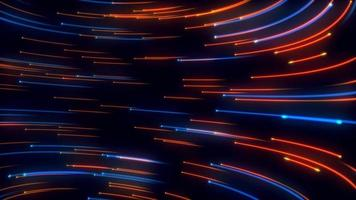 Abstract Blue and Orange Light Streamline Background